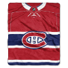 NHL Montreal Canadiens JERSEY 50x60 Raschel Throw