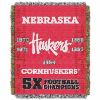 NCAA Nebraska Cornhuskers Commemorative 48x60 Tapestry Throw