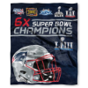 NFL New England Patriots Super Bowl 53 Champions 50x60 Silk Touch Blanket