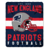 NFL New England Patriots 50x60 Fleece Throw Blanket