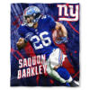 NFL New York Giants Saquon Barkley 50x60 Silk Touch Blanket