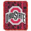 NCAA Ohio State Buckeyes FOCUS 48x60 Triple Woven Jacquard Throw