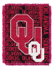 NCAA Oklahoma Sooners FOCUS 48x60 Triple Woven Jacquard Throw