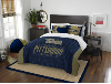 NCAA Pittsburgh Panthers QUEEN Comforter and 2 Shams