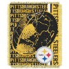 NFL Pittsburgh Steelers SPIRAL 48x60 Triple Woven Jacquard Throw