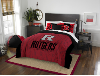 NCAA Rutgers Scarlet Knights QUEEN Comforter and 2 Shams