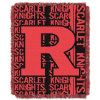NCAA Rutgers Scarlet Knights FOCUS 48x60 Triple Woven Jacquard Throw
