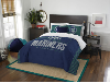 MLB Seattle Mariners QUEEN Comforter and 2 Shams