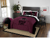 NCAA Southern Illinois Salukis QUEEN Comforter and 2 Shams