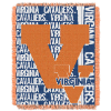NCAA Virginia Cavaliers FOCUS 48x60 Triple Woven Jacquard Throw