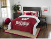 NCAA Wisconsin Badgers QUEEN Comforter and 2 Shams