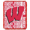 NCAA Wisconsin Badgers FOCUS 48x60 Triple Woven Jacquard Throw