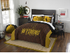 NCAA Wyoming Cowboys QUEEN Comforter and 2 Shams