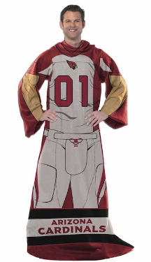 NFL Arizona Cardinals Uniform Huddler Blanket With Sleeves