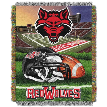 NCAA Arkansas State Red Wolves Home Field Advantage 48x60 Tapestry Throw