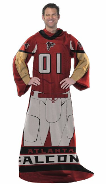 NFL Atlanta Falcons Uniform Huddler Blanket With Sleeves