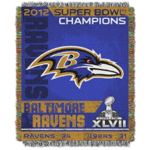 Baltimore Ravens Super Bowl 47 Champions Commemorative Tapestry