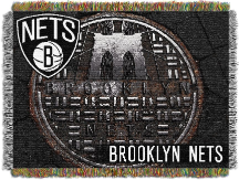 NBA Brooklyn Nets Real Photo 48x60 Tapestry Throw