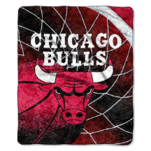 NBA Chicago Bulls SHERPA 50x60 Throw Blanket