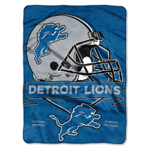 NFL Detroit Lions 60x80 Super Plush Throw Blanket