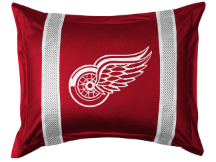 NHL Detroit Red Wings Pillow Sham - Sidelines Series