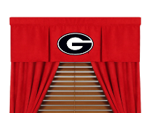 NCAA Georgia Bulldogs Valance - MVP Series