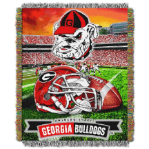 NCAA Georgia Bulldogs Home Field Advantage 48x60 Tapestry Throw