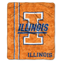 NCAA Illinois Fighting Illini Sherpa 50x60 Throw Blanket