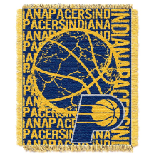 NBA Indiana Pacers 48x60 Triple Woven Jacquard Throw