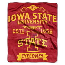 NCAA Iowa State Cyclones 50x60 Raschel Throw Blanket