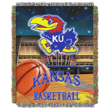 NCAA Kansas Jayhawks Home Field Advantage 48x60 Tapestry Throw