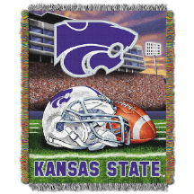 NCAA Kansas State Wildcats Home Field Advantage 48x60 Tapestry Throw