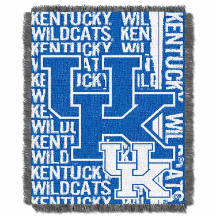 NCAA Kentucky Wildcats FOCUS 48x60 Triple Woven Jacquard Throw