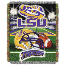 NCAA LSU Tigers Home Field Advantage 48x60 Tapestry Throw