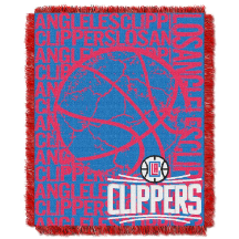 NBA Los Angeles Clippers 48x60 Triple Woven Jacquard Throw