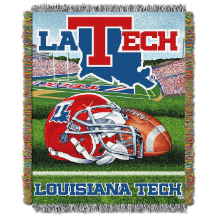 NCAA Louisiana Tech Bulldogs Home Field Advantage 48x60 Tapestry Throw