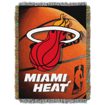 NBA Miami Heat Real Photo 48x60 Tapestry Throw