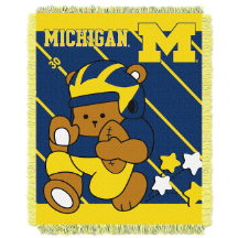 NCAA Michigan Wolverines Baby Blanket
