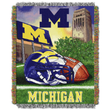 NCAA Michigan Wolverines Home Field Advantage 48x60 Tapestry Throw