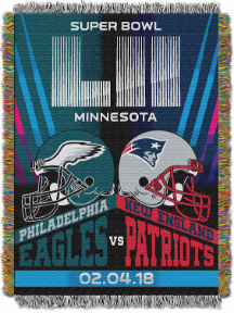 Super Bowl 52 Commemorative DUELING Tapestry