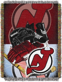 NHL New Jersey Devils Home Ice Advantage 48x60 Tapestry Throw