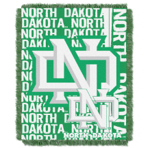 NCAA North Dakota Fighting Sioux FOCUS 48x60 Triple Woven Jacquard Throw