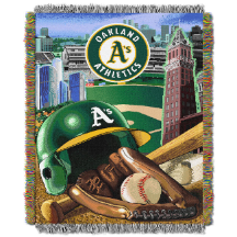 MLB Oakland A's Home Field Advantage 48x60 Tapestry Throw