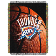 NBA Oklahoma City Thunder Real Photo 48x60 Tapestry Throw