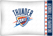 NBA Oklahoma City Thunder Micro Fiber Pillow Cases (set of 2)