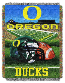 NCAA Oregon Ducks Home Field Advantage 48x60 Tapestry Throw