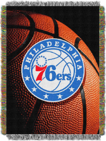 NBA Philadelphia 76ers Real Photo 48x60 Tapestry Throw