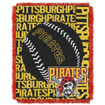 MLB Pittsburgh Pirates 48x60 Triple Woven Jacquard Throw