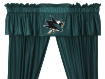 NHL San Jose Sharks Valance - Locker Room Series