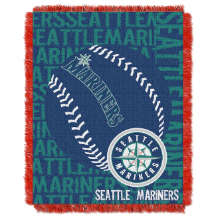MLB Seattle Mariners 48x60 Triple Woven Jacquard Throw